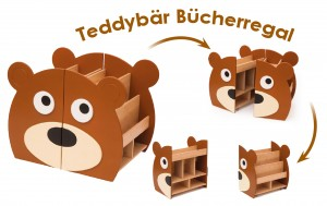 Bücherregal - Serie Teddybär NOV