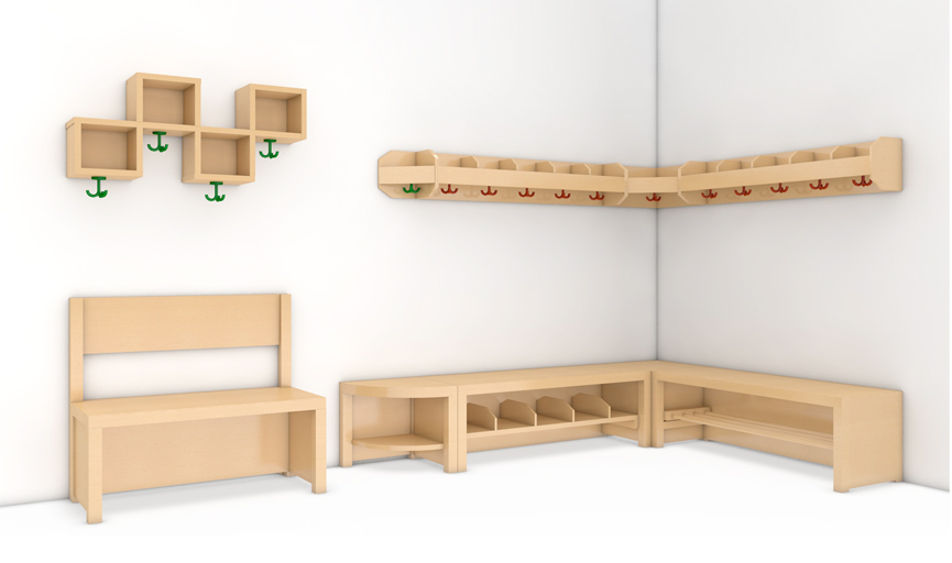 kindergarderobe garderobe kita krippe hort schule. Black Bedroom Furniture Sets. Home Design Ideas